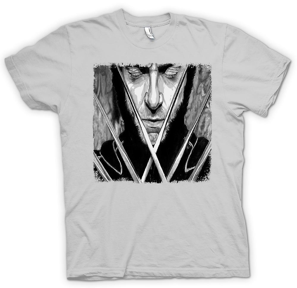 Mens t-shirt-X Men Wolverine - BW - Pop Art