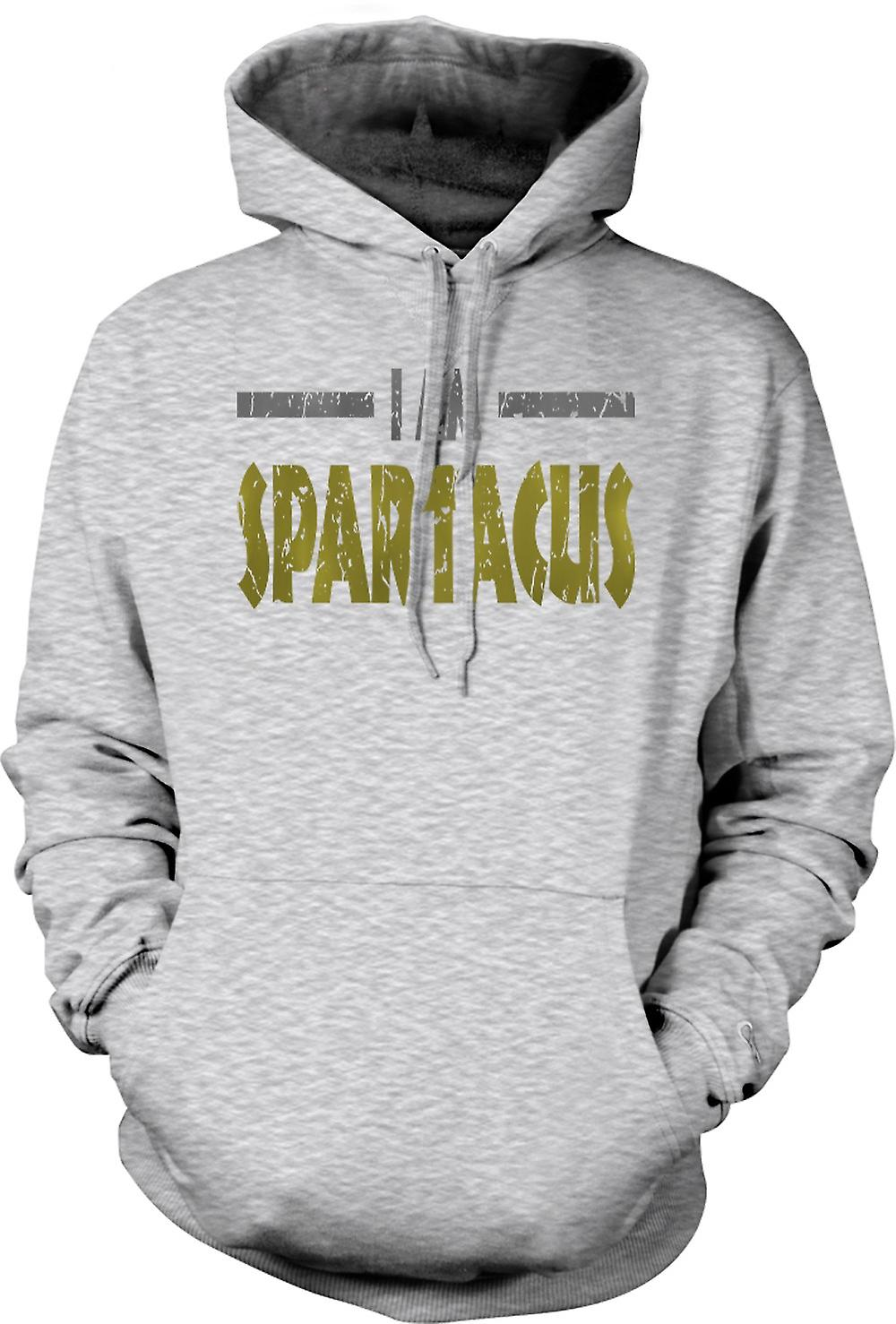 Mens Hoodie - I Am Spartacus - Funny Quote