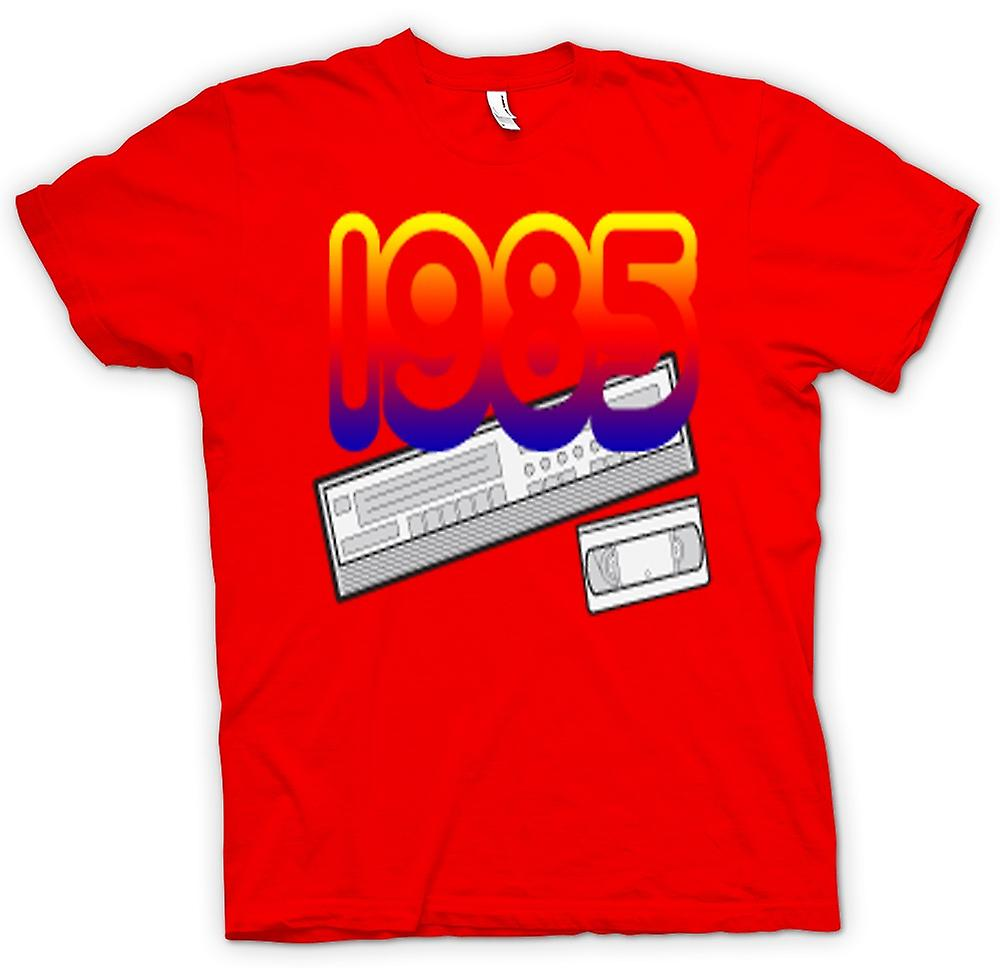 Mens t-shirt-1985 videoregistratore VCR
