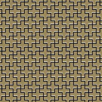 Metal mosaic Titanium ALLOY Swiss-Cross-Ti-GB