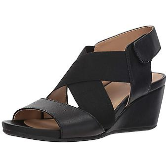 Naturalizer Womens Cleo Leather Open Toe Casual Ankle Strap Sandals