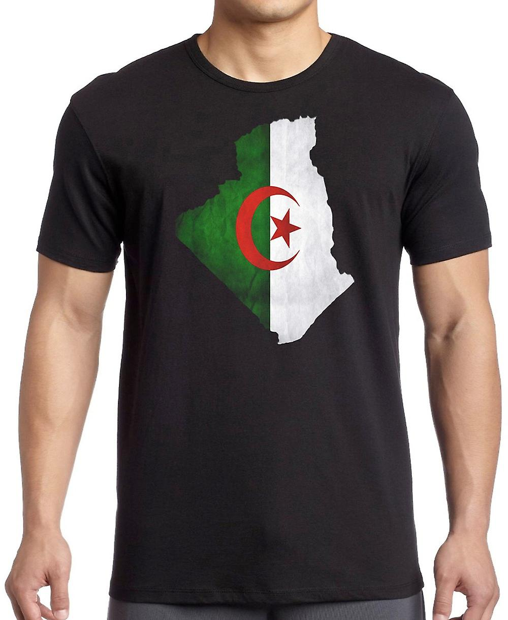 Algerian Algeria Flag Map T Shirt  - 5xl