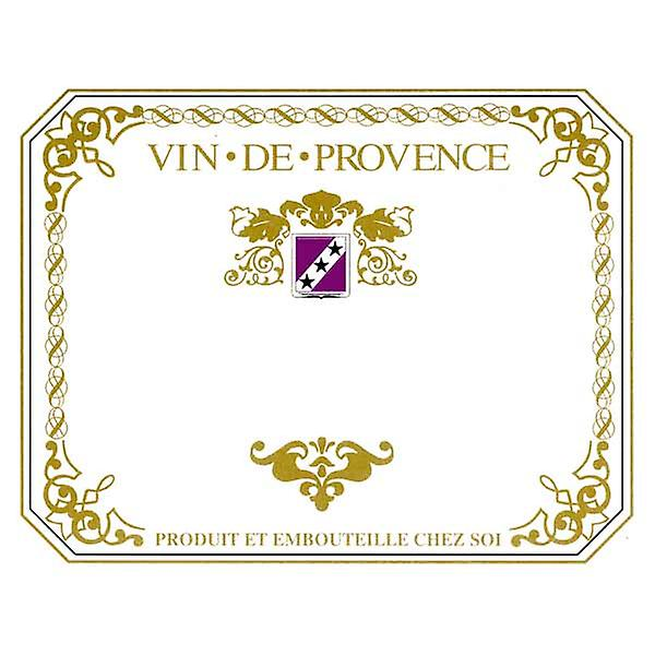 Wine labels - Vin de Provence - red