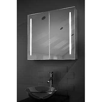 Rhea LED Bathroom Cabinet with Demister Pad, Sensor & Shaver k360