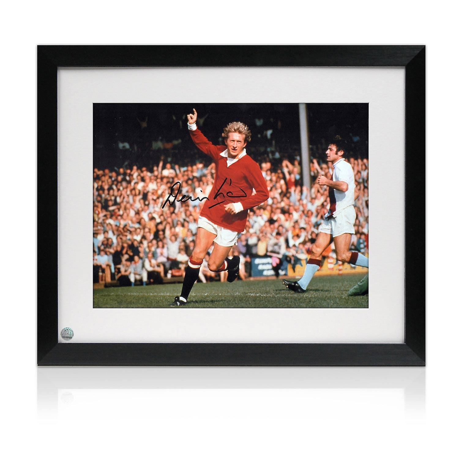 Denis Law Signed And Framed Manchester United Photograph
