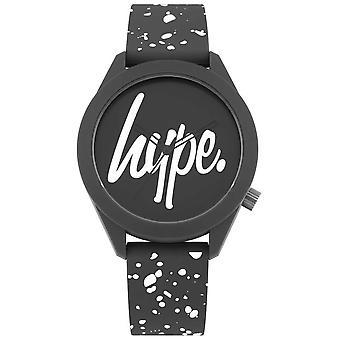 Hype   Mens Grey And White Print Silicone Strap   Grey Dial   HYG003BW Watch