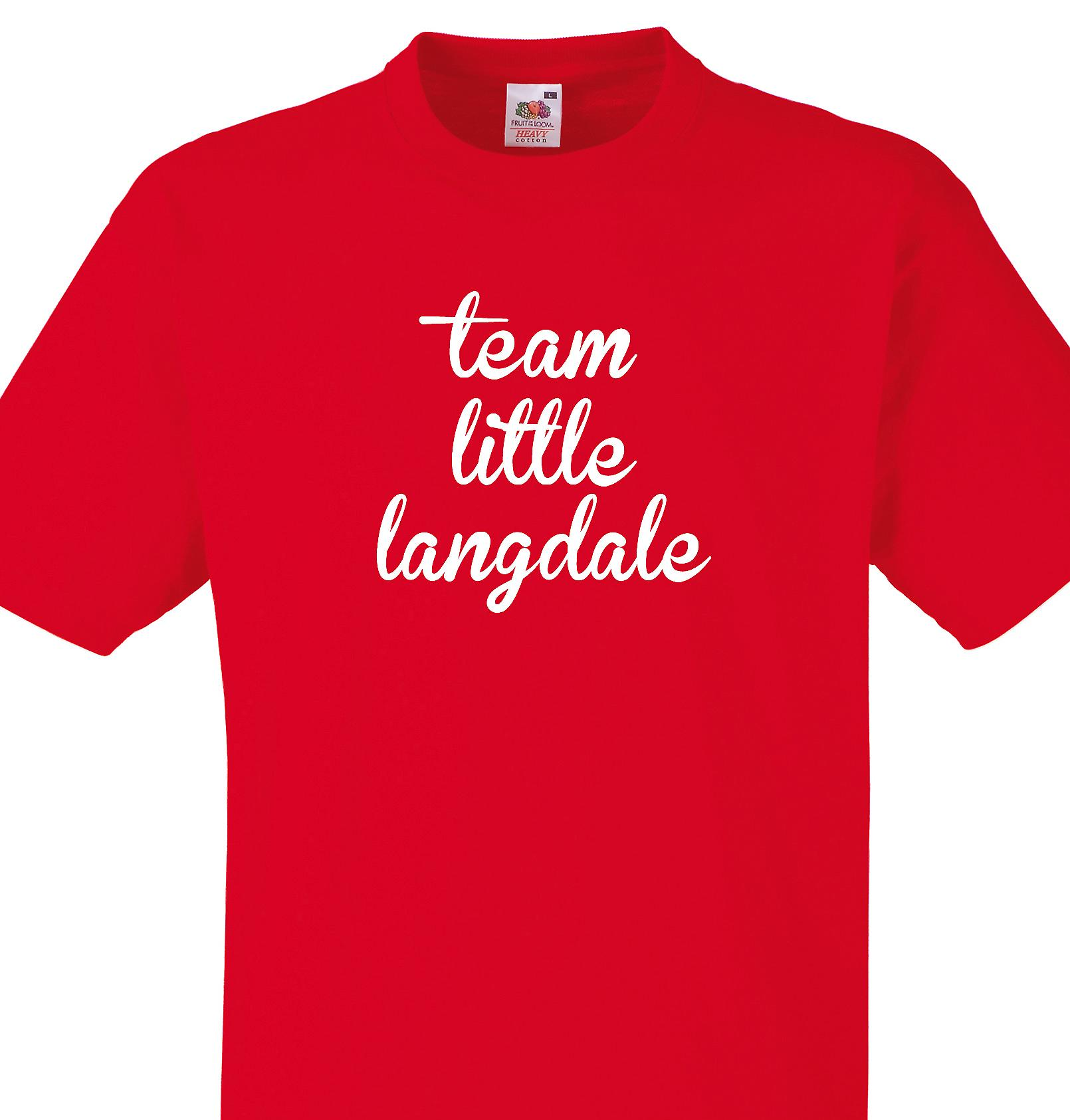 Team Little langdale Red T shirt