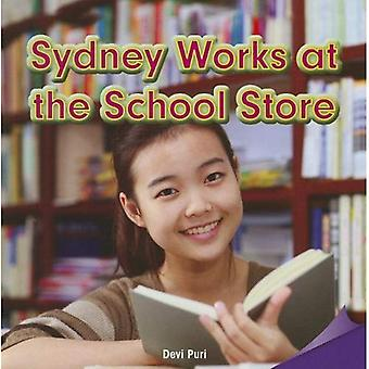 Sydney Works at the School Store