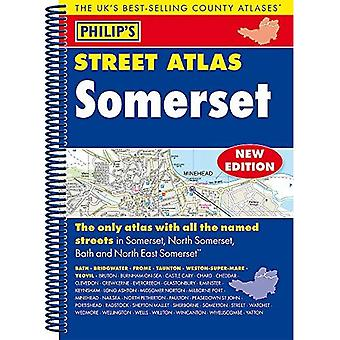 Philip's Street Atlas Somerset: Spiral Edition