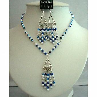 Синдикат Swarovski кристаллы ожерелья набор & Мел AB ювелирные кристаллы