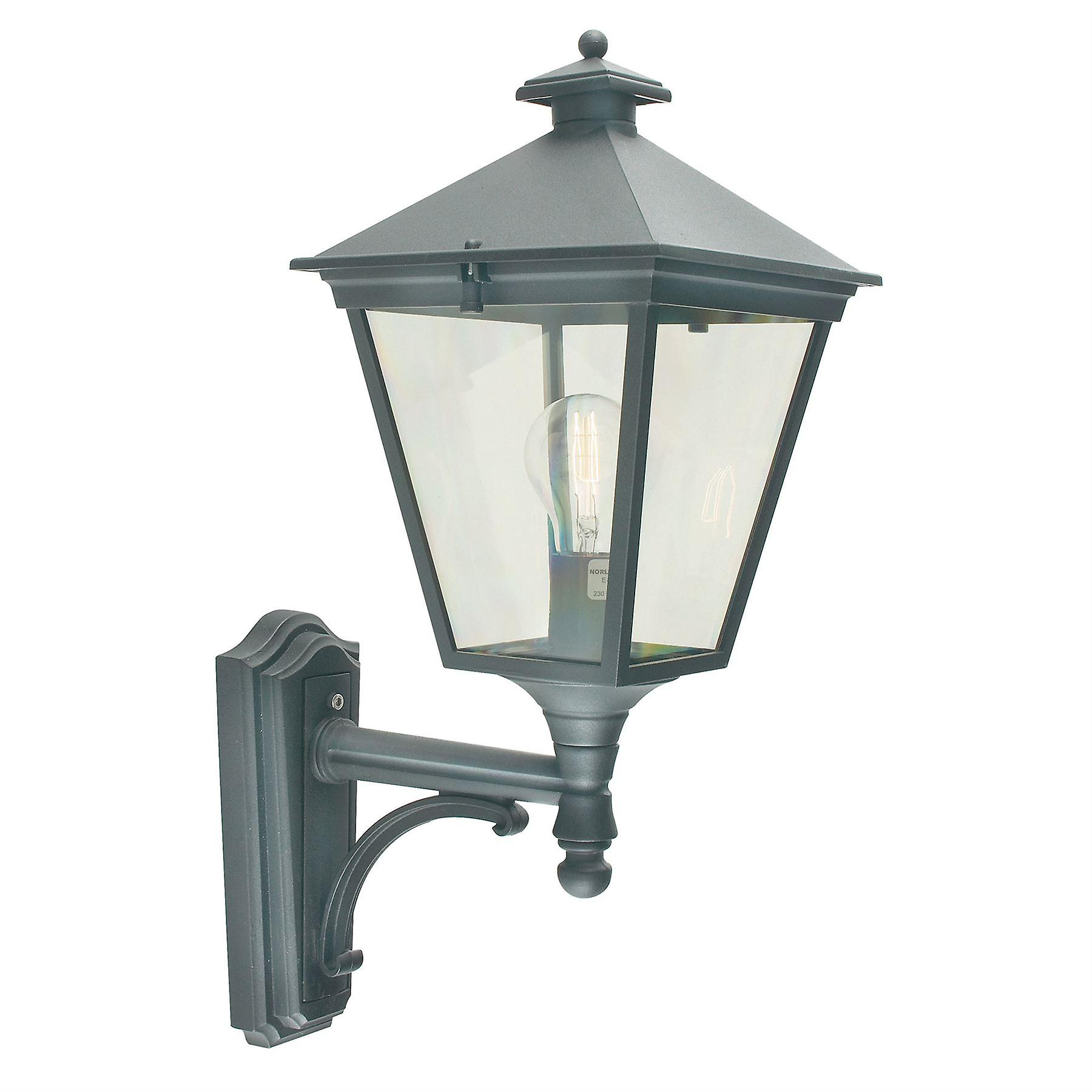 Turin Outdoor Up Wall Lantern - Elstead Lighting T1 noir