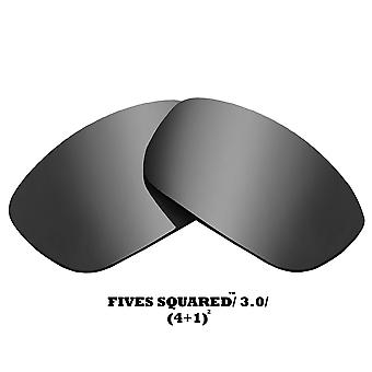 FIVES 3.0 Replacement Lenses Silver Mirror by SEEK fits OAKLEY Sunglasses