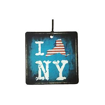 I Love New York Empire State Car Air Freshener