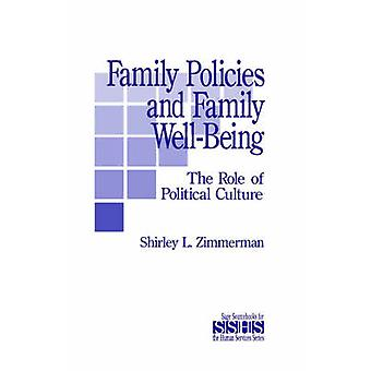 Politiques de la famille et du bien-être familial le rôle de la Culture politique, par L. Zimmerman & Shirley