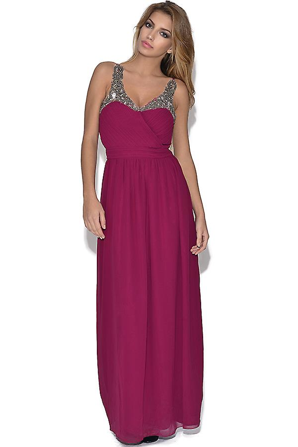 Little Mistress Heavily Embellished Maxi Dress