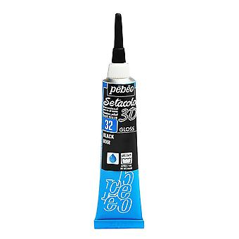 Pebeo Setacolor 3D Gloss Fabric Paint 20ml - 32 Black