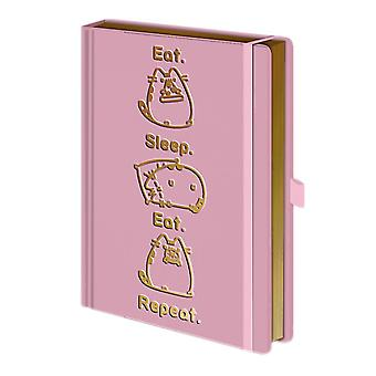 Pusheen Eat Sleep Repeat Premium A5 Notebook