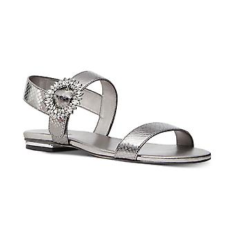 Michael Michael Kors Womens Viola Leather Open Toe Casual Slingback Sandals