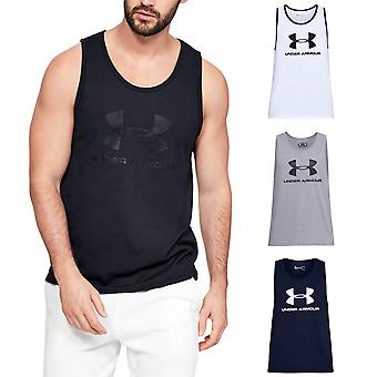 Under Armour Mens 2019 Sportstyle Logo Tank Soft Sleeveless Cotton Vest