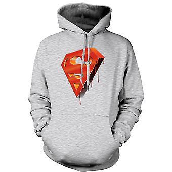 Mens Hoodie - 3D Superman Logo