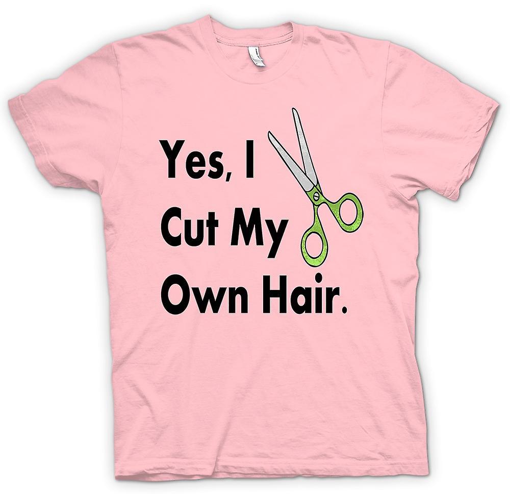 womens t shirt ja ich meine eigenen haare schneiden lustig fruugo. Black Bedroom Furniture Sets. Home Design Ideas