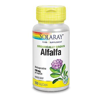 Solaray Organically Grown Alfalfa Leaf Vcaps 100 (40897)