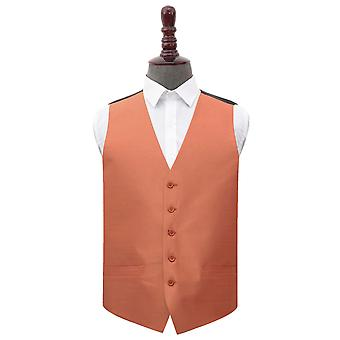 Copper Shantung Wedding Waistcoat