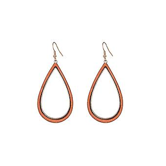 Jewelcity Sunkissed Womens/Ladies Wood Water Drop earrings