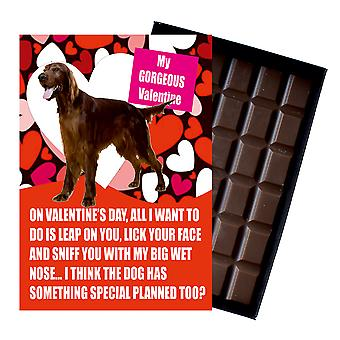 Irish Red Setter Gift for Valentines Day Presents Dog Lovers Boxed Chocolate