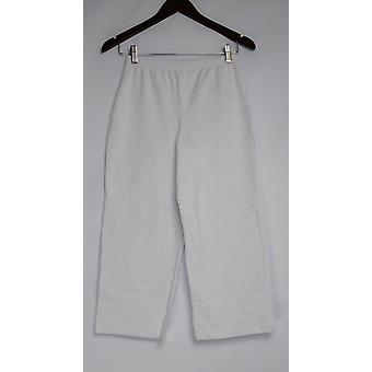 Women with Control Women's Pants Pull-on Knit Crop White A200215