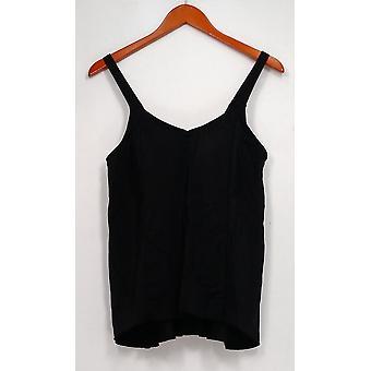 Denim & Co. Swimsuit Beach Hi-Low Tankini Swimsuit Black A303155