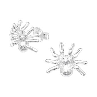 Spider - 925 Sterling Silver Plain Ear Studs - W11539X