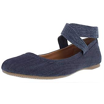 Style & Co. Womens Beaa Fabric Closed Toe Ankle Strap Ballet Flats