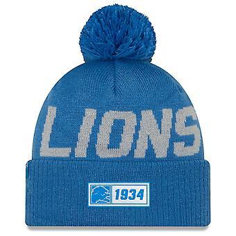 New Era Nfl Detroit Lions 2019 Sideline Road Sport Knit