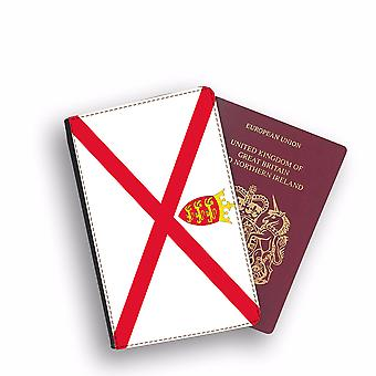 BAILWICK OF JERSEY Flag Passport Holder Style Case Cover Protective Wallet Flags design
