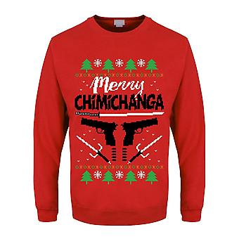 Grindstore Mens Merry Chimichanga Christmas Jumper