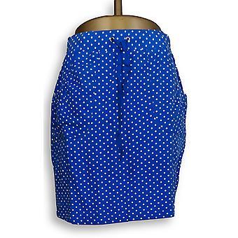 Susan Graver Frauen's Shorts gedruckt Französisch Terry Skort blau A232818