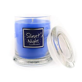 Lily Flame Scented Candle in Decorative Jar - Silent Night