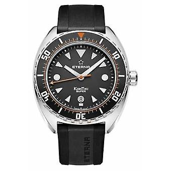 Eterna Mens Super Kontiki Automatic Black Strap Black Dial 1273.41.46.1382 Watch