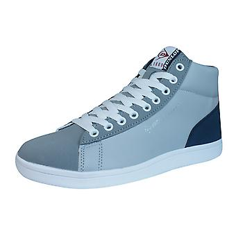 Dunlop Trainers Jerez Mens Hi Top Lace Up Shoes - Grey