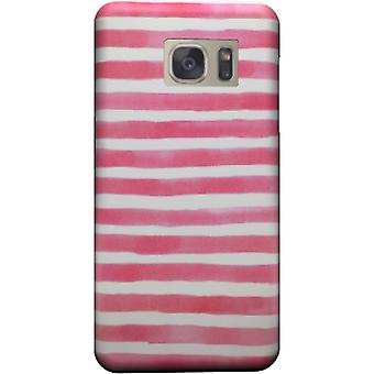 Rosa Aquarell Stipes Galaxy S7 Rand bedecken
