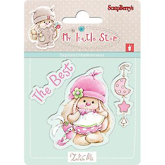 ScrapBerry's My Little Star Clear Stamps-Best 907043