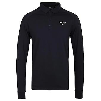 Creative Recreation Tone Long Sleeve Navy Polo Shirt