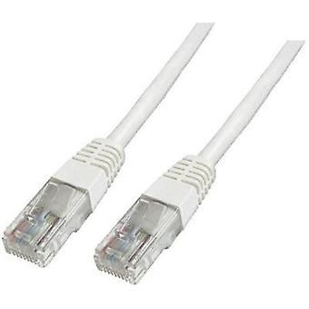 RJ49 Networks Cable CAT 6 U/UTP 10 m White Halogen-free, incl. detent Digitus Professional