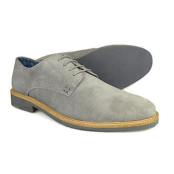 Silver Street London Lime Mens Grey Suede Casual Shoes