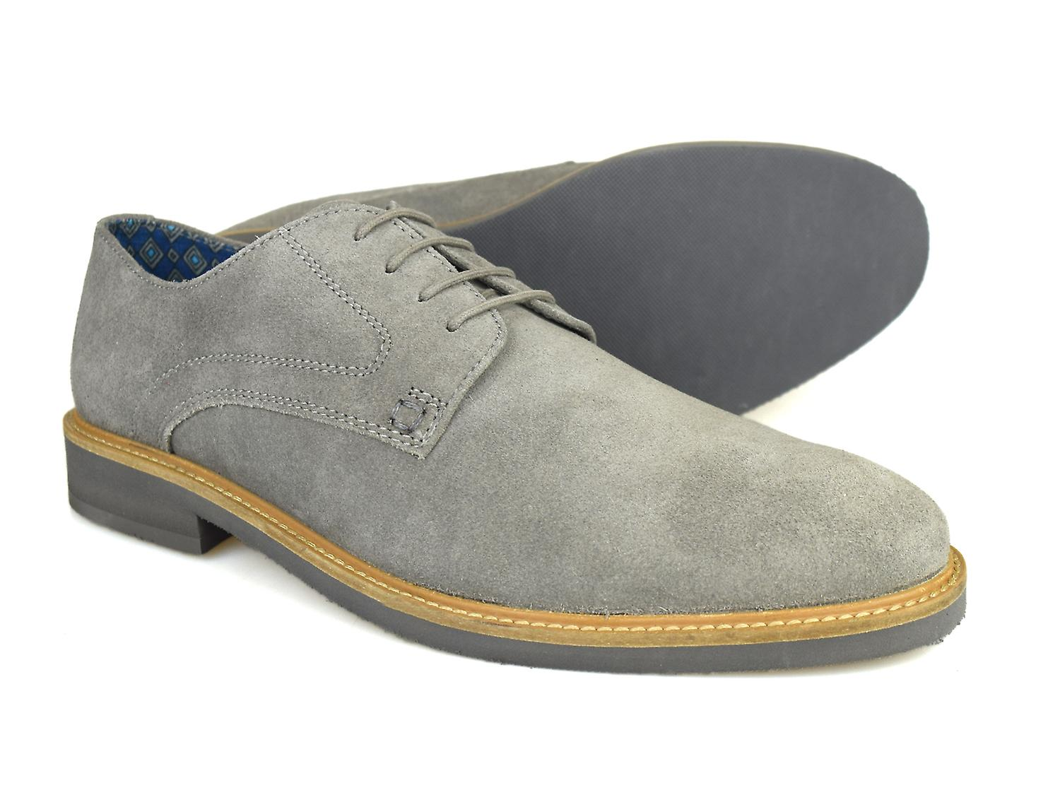 London Shoes Casual Suede Lime Grey Mens Street Silver 540qPw