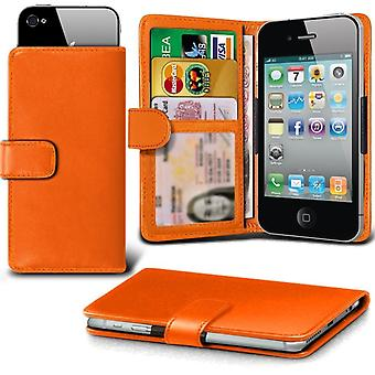 iTronixs - Acer Liquid Z530S (5 inch) Case Clamp Style Wallet Protective PU Leather Case Cover - Orange