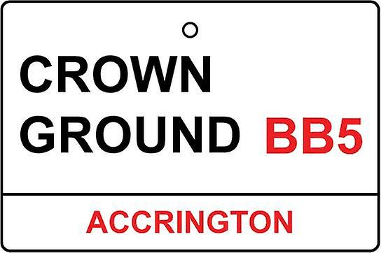 Accrington / Crown Ground Street Sign Car Air Freshener