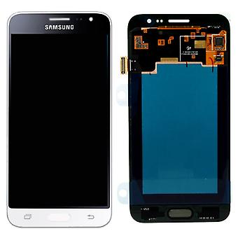 Crystal Display, LCD complete set GH97 18414A witte Samsung Galaxy J3 J320F 2016