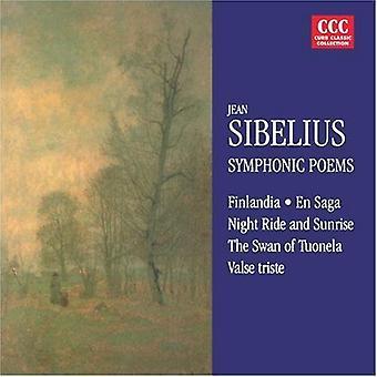 J. Sibelius - Sibelius: Finlandia; Valse Triste; Giro di notte e l'alba; il cigno di Tuonela; Di importazione USA Saga [CD]